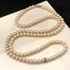 Vintage Monet Necklace Simulated Pearl 2 Tone 7D